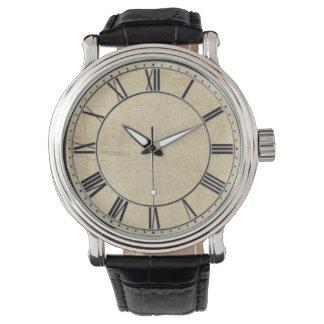 Apariencia vintage envejecida relojes de pulsera