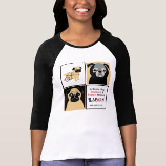 APARN 3 Pug Baseball Shirt - Women