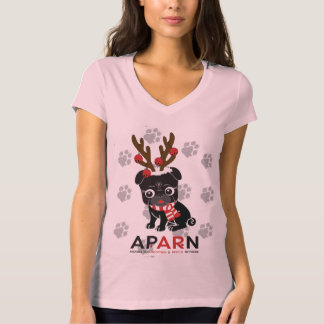 APARN Holiday Logo Women's Bella V-Neck T-Shirt