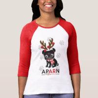 APARN Holiday Women's Bella 3/4 Sleeve Raglan Tee