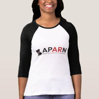 APARN Logo Ladies 3/4 Sleeve Raglan Tee Shirt