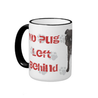APARN No Pug Left Behind Black 15 oz Ringer Mug