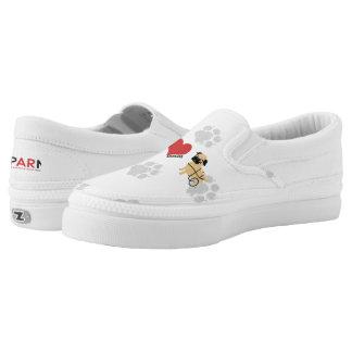 APARN Rescue Pug Custom Zipz Slip On Shoes