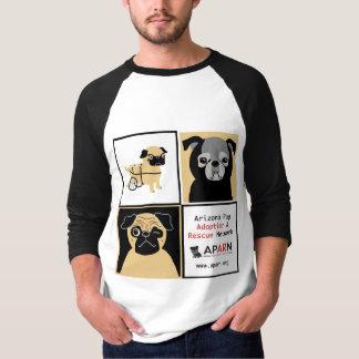 APARN Rescue Pugs Basic 3/4 Sleeve Raglan T-shirt