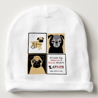 APARN Rescue Pugs Custom Baby Cotton Beanie