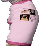 APARN Rescue Pugs Doggie Ringer T-Shirt Pet Tee Shirt
