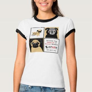 APARN Rescue Pugs Ladies Melange Ringer T-shirt