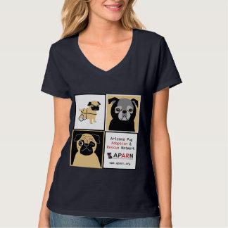 APARN Rescue Pugs Women Hanes Nano V-Neck T-Shirt