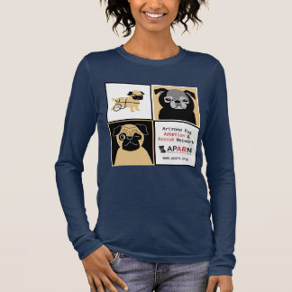 APARN Rescue Pugs Women Relaxed Fit Long Sleeve Long Sleeve T-Shirt