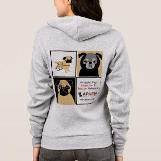 APARN Rescue Pugs Women's American Apparel Hoodie