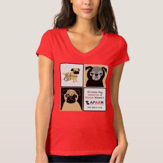 APARN Rescue Pugs Women's Bella Jersey V-Neck Tee