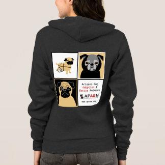 APARN Rescue Pugs Women's Fleece Raglan Hoodie