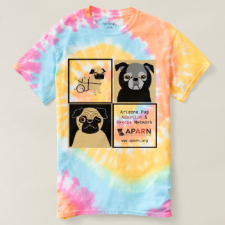 APARN Rescue Pugs Women's Spiral Tie-Dye T-Shirt