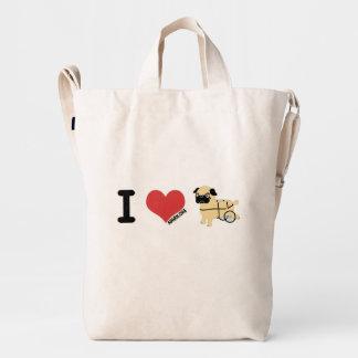 APARN Special Rescue Pug BAGGU Duck Bag, Canvas Duck Bag