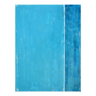 'Apart' Teal Abstract Art Poster