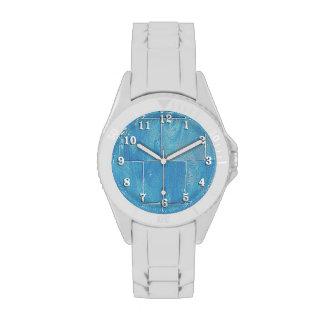 Apartadero azul lavado reloj de mano