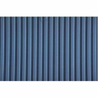 Apartadero de aluminio azul ilustrativo fotoescultura vertical