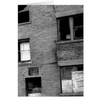 Apartamento abandonado para el alquiler tarjeta de felicitación