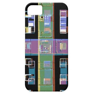 Apartamentos abstractos coloridos de la ciudad iPhone 5 carcasas