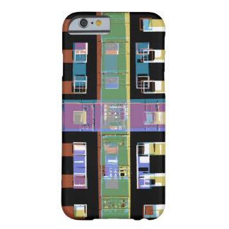 Apartamentos abstractos de la ciudad funda de iPhone 6 barely there