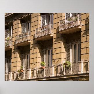 Apartamentos, Italia Póster