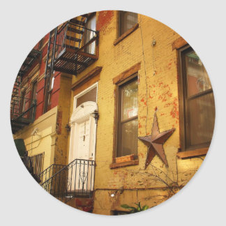 Apartment Building, Alphabet City, East Village Classic Round Sticker