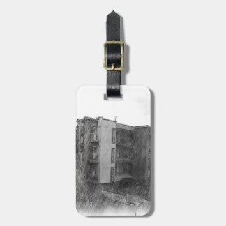 Apartment Building Bag Tag