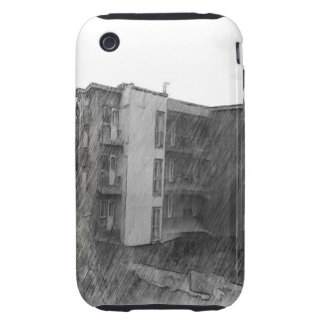 Apartment Building iPhone 3 Tough Cover