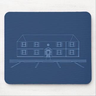 Apartment Building / House: Blue Print Mouse Pad