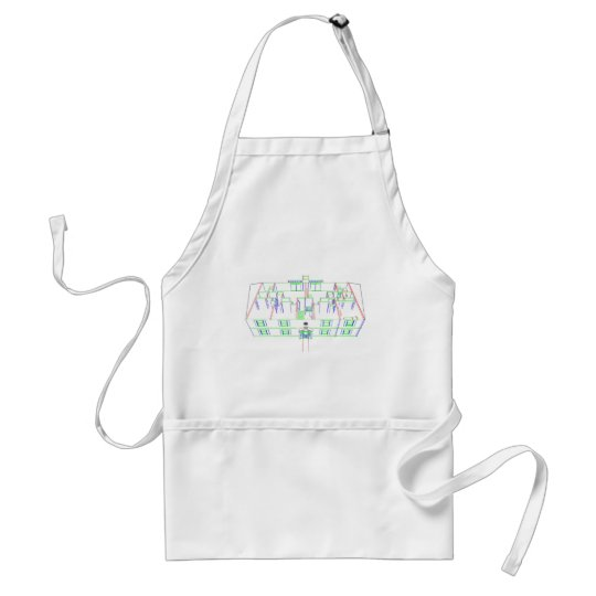 Apartment Building / House: Marker Drawing Adult Apron