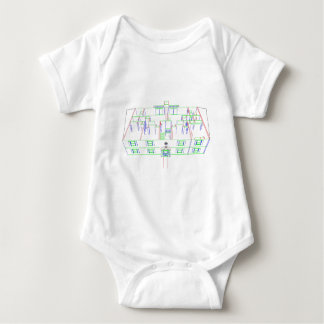 Apartment Building / House: Marker Drawing Baby Bodysuit