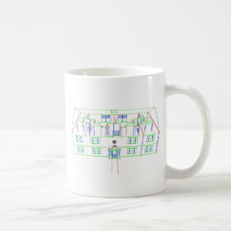 Apartment Building / House: Marker Drawing Mugs
