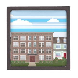 Apartment building keepsake box