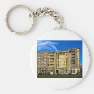apartment building keychain