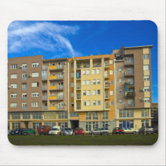 apartment building mouse pad