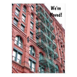 Apartment Building Photo Change of Address Postcard