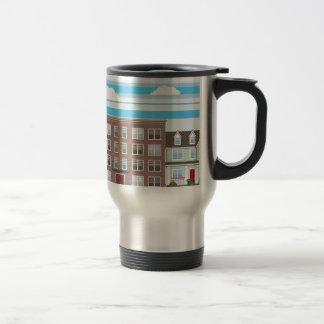 Apartment building travel mug