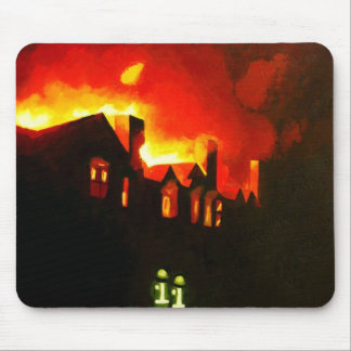 Apartment Fire Mouse Pad