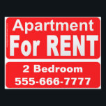 "Apartment For Rent sign<br><div class=""desc"">Everyone needs a place to live.  Rent that special apartment with this sign. 