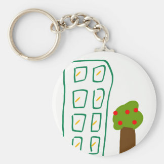 Apartment house keychain