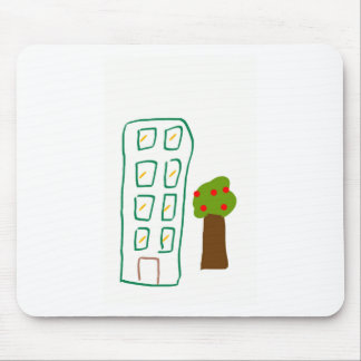 Apartment house mouse pad