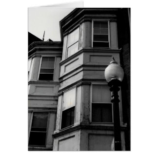 Apartment Windows B&W Photograph Greeting Card