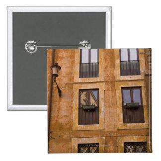 Apartment windows, Rome, Italy 2 Button