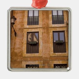 Apartment windows, Rome, Italy 2 Metal Ornament