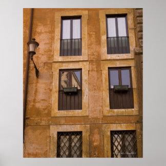Apartment windows, Rome, Italy 2 Poster