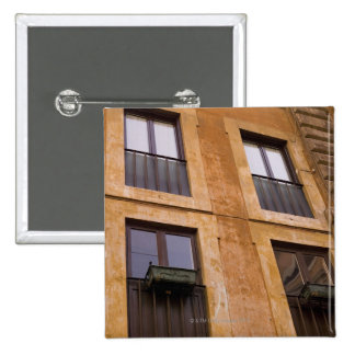Apartment windows, Rome, Italy Button