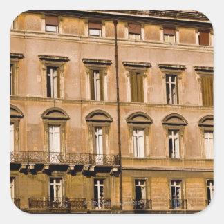 Apartments, Rome, Italy 2 Square Sticker