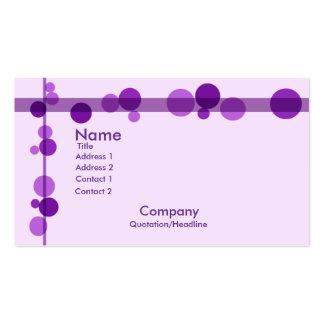 Apasionado sobre púrpura tarjetas de visita