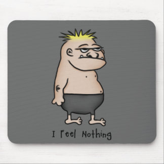 Apathetic Cartoon Guy Mouse Pad