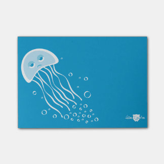 Apathetic Jellyfish Post-it Note